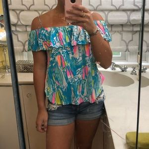 Lilly Pulitzer Tamiami off the shoulder top